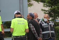Yaşlı adam çarptığı kadının sağlık durumunu uzun süre polislere sordu