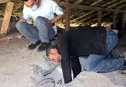 Depremde 1 saat taş yığını altında yaşam mücadelesi verdiler