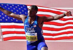 Şampiyon sprinter Coleman spordan geçici olarak men edildi