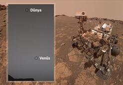 Mars keşif aracı Curiosity, Dünya ve Venüsü fotoğrafladı