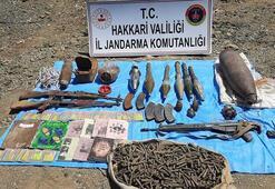 Son dakika: Hakkaride PKKya ait silah ve mühimmat ele geçirildi