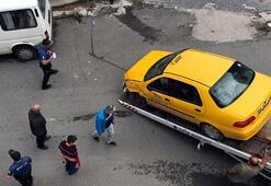 Freni boşalan taksi çarpınca... Feci ölüm