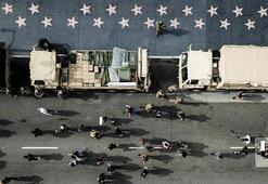 ABDde protestoları izleyen askeri uçaklara inceleme