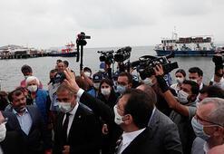 Büyükadaya gelen İBB Başkanı İmamoğluna protesto şoku