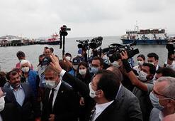 İBB Başkanı Ekrem İmamoğlu Büyükadada protesto edildi
