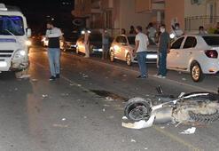 Yolcu minibüsü motosiklete çarptı: 1 ölü, 1 yaralı