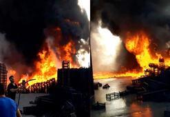 Tarsus Halinde korkutan yangın