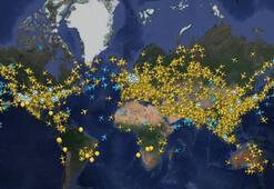 Dünyada günlük ticari uçuş trafiği Mart sonrası ilk kez 50 bini geçti