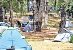 Sakin Şehir'de çadırlı mesafeli tatil zamanı
