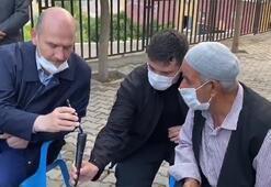 Cumhurbaşkanı Erdoğan Silopi'de şehit olan işçinin babası ile görüştü