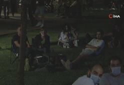 Maçka Parkında dikkat çeken kalabalık