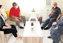 Başkan Çalkaya, şehit babalarını unutmadı