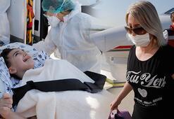 Son dakika... Diyabet hastası Nihal, Türkmenistandan ambulans uçakla Türkiyeye getirildi