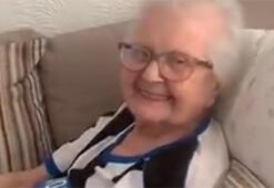 93 yaşında koronavirüsü yendi, galibiyeti böyle kutladı...
