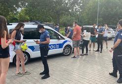 Caddebostan Sahilinde maske denetimi Polisi görünce harekete geçtiler ama...