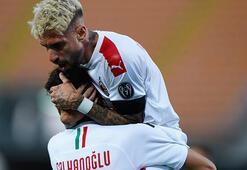 Hakan Çalhanoğlunun gecesi Milan farklı kazandı...