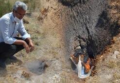 Topraktan çıkan duman vatandaşları tedirgin etti