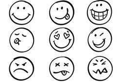 Emoji boyama sayfası