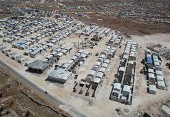 İdlibde briket evler, ailelere teslim edildi