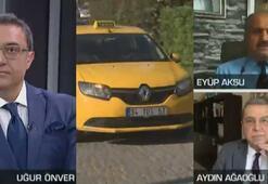 Canlı yayında taksi plakası tartışması Tansiyon yükseldi