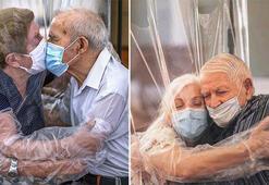 Corona virüsün ayırdığı yaşlı çift 102 gün sonra kavuştu