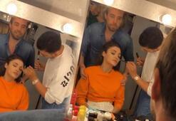 Murat Dalkılıçtan sevgilisi Hande Erçele masaj