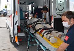Aksarayda iskeleden düşen inşaat işçisi yaralandı
