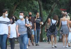 Maçka Parkı ve İstiklal Caddesinde maske zorunluluğuna uyulmadı