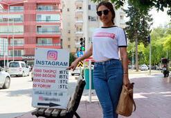 Sokak ortasında takipçi satıp fenomen yapıyor