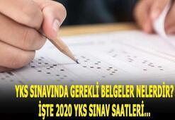 YKS sınav başlangıç ve bitiş saati 2020 YKS sınavında gerekli belgeler neler, veliler gelecek mi