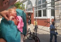 Şans eseri fark ettiler Yeni doğmuş bebek cami avlusuna bırakıldı