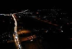 YKS günü uygulanacak sokağa çıkma yasağı öncesi trafik yoğunluğu