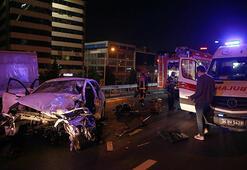 Son dakika İstanbulda trafik kazası: 1 ölü, 2 yaralı