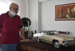 El emeği göz nuru 1974 model klasik otomobilin minyatürünü 36 yılda yaptı