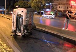 Beylikdüzünde trafik kazası 100 metre sürüklendi
