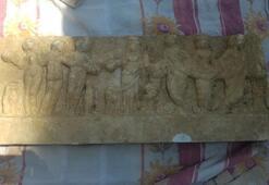 Ataşehirde evin bahçesinde tarihi eser bulundu