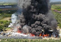 Son dakika... Geri dönüşüm tesisi küle döndü 2 itfaiye eri ile 7 kişi dumandan etkilendi