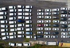 Servet değerindeki otomobiller otoparkta kaderine terk edildi Çürüyorlar...
