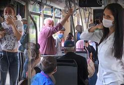 Vatman sosyal mesafe kuralına uymayan yolculara kızdı, olanlar oldu