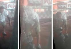 İzmirde oto yıkamacıda yavru köpeğe işkence kamerada