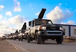 Son dakika... Mısır ve Hafter ateşle oynuyor 45 araçlık konvoy bugün...