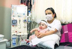 Tek isteği kızını sağlıkla büyütmek