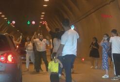 Asker eğlencesi için Kağıthane Tünelini kapattılar
