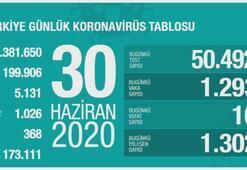Türkiyenin günlük corona virüs tablosu (30 Haziran 2020)