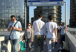İstanbulda iş çıkışı metrobüste ve trafikte yoğunluk Böyle görüntülendi