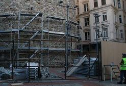 Galata Kulesinde restorasyon