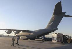 Son dakika... Tıbbi yardım malzemelerini taşıyan uçağımız Irak'a indi