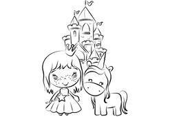 Prenses boyama sayfası