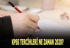 KPSS tercihleri ne zaman 2020 KPSS tercih tarihleri nedir