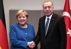 Son dakika haberi... Cumhurbaşkanı Erdoğan,  Almanya Başbakanı Merkel ile görüştü